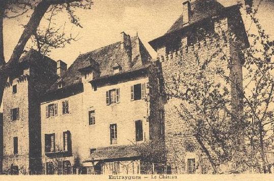 façade du chateau au siècle dernier