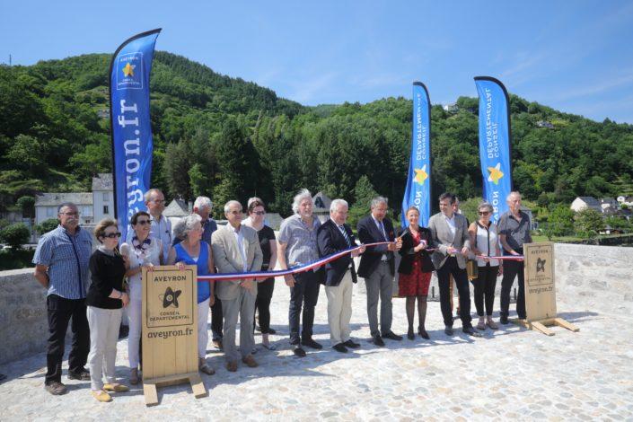 Inauguration du Pont de Truyère le 4 juin 2019